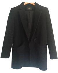 Maje Black Wool Coats