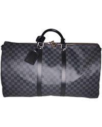 Louis Vuitton Cartera Keepall de Lona - Gris
