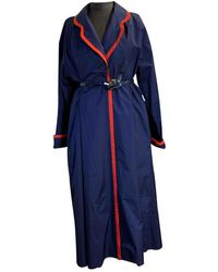 Dior Vintage Blue Polyester Trench Coats