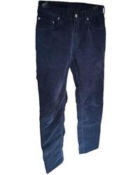 Acne Studios Pantaloni in cotone marina - Blu