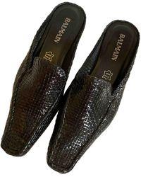 Balmain Leather Mules & Clogs - Black