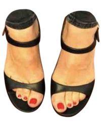 A.P.C. Leather Sandals - Black