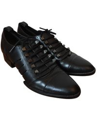 Alexander Wang - Black Leather Lace Ups - Lyst