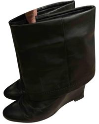 Marc Jacobs Leather Boots - Black