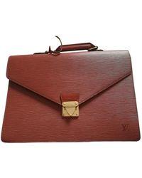 Louis Vuitton Robusto Leder Business Tasche - Mehrfarbig