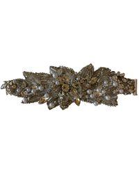 Jenny Packham Silver Metal Bracelet - Multicolor