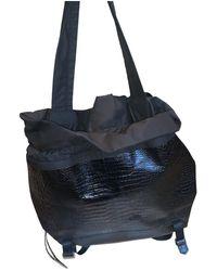 Elizabeth and James Patent Leather Travel Bag - Black