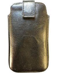 Smythson Petite maroquinerie en Cuir Noir