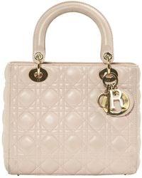 Dior Lady Pink Leather Handbag