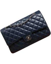 Chanel Bolso Timeless/Classique de Cuero - Azul