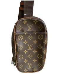 Louis Vuitton Borsa Gange in Tela - Marrone