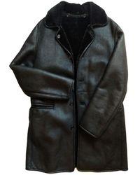 Marni Shearling Peacoat - Black