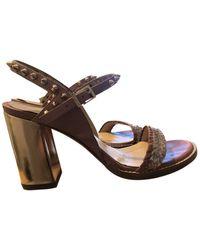 Zadig & Voltaire Vogue Braids Leather Sandals - Pink