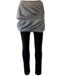 Junya Watanabe Black Polyester Trousers