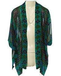 Anna Sui Top en Soie Vert