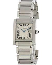 Cartier Tank Française Watch White - Metallic