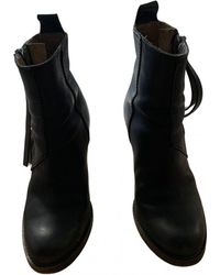 Acne Studios Pistol Leather Ankle Boots - Black
