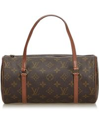 Louis Vuitton - Vintage Papillon Brown Cloth Handbag - Lyst