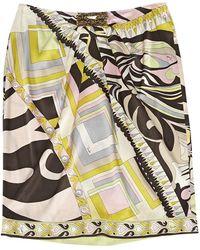Emilio Pucci Falda en seda multicolor