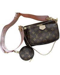 Louis Vuitton Multi Pochette Accessoires Brown Cloth Handbag