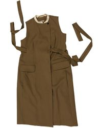 Carven - Vestido midi de Lana - Lyst