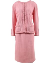 Chanel Wolle Kostüm - Pink