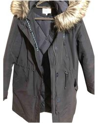 Claudie Pierlot Navy Cotton Coat - Blue