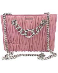 Miu Miu Pre-owned Club Pink Leather Handbags