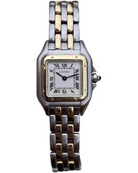 Cartier Vintage Panthère Gold Gold And Steel Watches - Multicolour