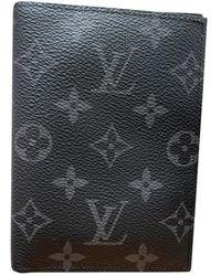 Louis Vuitton Marroquinería Passport cover de Lona - Gris