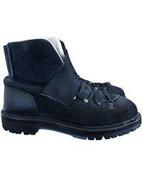 Lanvin Black Suede Boots