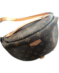 Louis Vuitton Bum Bag / Sac Ceinture Leinen Clutches - Braun
