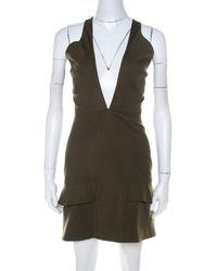 Cushnie et Ochs Mini Kleid - Grün