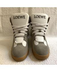 Loewe High Trainers - White