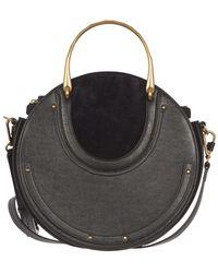Chloé Pixie Blue Leather Handbag