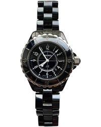 Chanel J12 Quartz Uhren - Schwarz