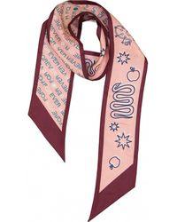BVLGARI - Pink Silk Scarves - Lyst