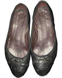 Chanel Leder Ballerinas - Schwarz