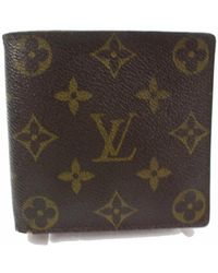 Louis Vuitton Marco Brown Cloth Small Bag Wallets & Cases