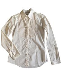 Burberry Top in cotone bianco