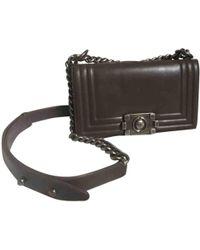 Chanel - Pre-owned Boy Leather Crossbody Bag - Lyst