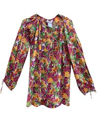 Dior Top en Coton Multicolore