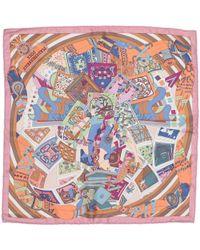 Hermès - Twilly Pink Silk - Lyst