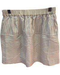 Louis Vuitton | Pre-owned Silk Mini Skirt | Lyst