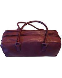 Miu Miu Purple Leather Handbag