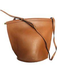 Celine Clasp Bucket Leather Crossbody Bag - Multicolour