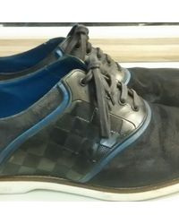 Louis Vuitton Derbis en cuero azul Melrose