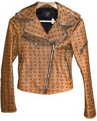 MCM Leather Jacket - Brown