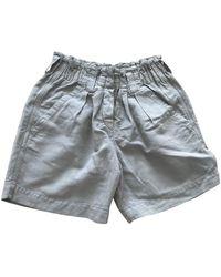 Étoile Isabel Marant Shorts Baumwolle Khaki - Grau