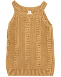 Hermès - Camel Cotton Top - Lyst